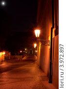 Улица в Праге ночью (2009 год). Стоковое фото, фотограф Роберт Ивайсюк / Фотобанк Лори
