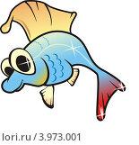 Золотая рыбка. Стоковая иллюстрация, иллюстратор Якунин Алексей / Фотобанк Лори
