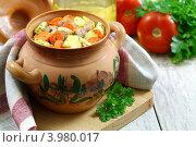 Купить «Мясо, тушенное в горшочке», фото № 3980017, снято 31 октября 2012 г. (c) Надежда Мишкова / Фотобанк Лори