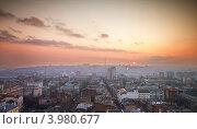 Закат над городом Ростов-на-Дону. Стоковое фото, фотограф Денис Демков / Фотобанк Лори