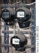 Купить «Старые электрические счетчики», фото № 3981953, снято 20 марта 2012 г. (c) Яков Филимонов / Фотобанк Лори