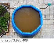 Купить «Надувной бассейн на садовом участке», эксклюзивное фото № 3983409, снято 22 июня 2012 г. (c) lana1501 / Фотобанк Лори