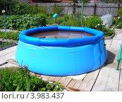 Купить «Надувной бассейн на садовом участке», эксклюзивное фото № 3983437, снято 22 июня 2012 г. (c) lana1501 / Фотобанк Лори