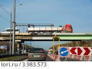 Ремонт моста на Симферопольском шоссе (2012 год). Редакционное фото, фотограф Евгений Андреев / Фотобанк Лори