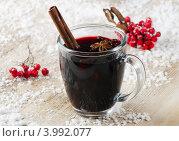 Купить «Горячее вино с пряностями - глинтвейн», фото № 3992077, снято 30 октября 2012 г. (c) Tatjana Baibakova / Фотобанк Лори