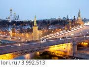 Кремль из отеля Балчуг (2011 год). Редакционное фото, фотограф Борис Антонов / Фотобанк Лори
