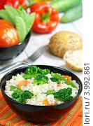 Купить «Перловка с овощами», фото № 3992861, снято 6 ноября 2012 г. (c) Надежда Мишкова / Фотобанк Лори