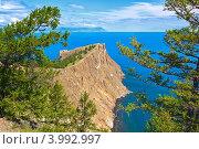Самый северный мыс острова Ольхон на озере Байкал - мыс Хобой. Стоковое фото, фотограф Сергей Гусев / Фотобанк Лори
