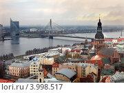 Купить «Вид на Ригу с башни церкви святого Петра», фото № 3998517, снято 4 ноября 2012 г. (c) Юлия Кузнецова / Фотобанк Лори