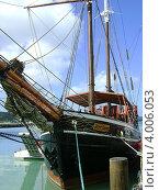 """Купить «Пиратский корабль """"Черный лебедь"""" на острове Антигуа (Карибские острова)», эксклюзивное фото № 4006053, снято 1 февраля 2008 г. (c) Наташа Антонова / Фотобанк Лори"""