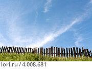 За забором- небо. Стоковое фото, фотограф Пакалин Сергей / Фотобанк Лори