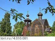 Православная церковь Воскресения Христова, поселок Суйда (2011 год). Стоковое фото, фотограф Артем Костров / Фотобанк Лори