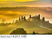 Купить «Тоскана ранним утром», фото № 4011149, снято 18 февраля 2019 г. (c) Sergey Borisov / Фотобанк Лори