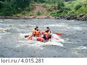 Рафтинг по реке Вуоксе. Стоковое фото, фотограф Андрей Небукин / Фотобанк Лори