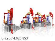 Купить «Нефтекачалка, добыча нефти 3d», иллюстрация № 4020853 (c) Дудакова / Фотобанк Лори