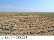 Купить «Магическая спираль на Аркаиме», фото № 4023281, снято 4 июня 2012 г. (c) Беляева Галина / Фотобанк Лори
