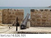 Купить «Старая пушка в крепости Ларнаки», фото № 4026101, снято 29 мая 2012 г. (c) Хименков Николай / Фотобанк Лори