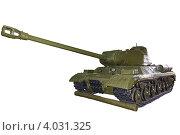 Купить «Тяжелый советский танк ИС-2», фото № 4031325, снято 1 мая 2012 г. (c) Mikhail Starodubov / Фотобанк Лори