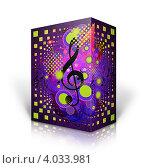 Купить «Коробка с ярким рисунком на музыкальную тему», иллюстрация № 4033981 (c) Анна Павлова / Фотобанк Лори