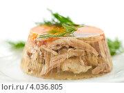 Купить «Заливное из мяса», фото № 4036805, снято 20 ноября 2012 г. (c) Peredniankina / Фотобанк Лори