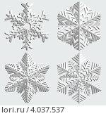 Купить «Четыре снежинки», фото № 4037537, снято 25 июня 2019 г. (c) Катыкин Сергей / Фотобанк Лори