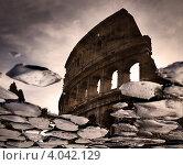 Римский Колизей, отражение (2012 год). Стоковое фото, фотограф Наталья Немчинова / Фотобанк Лори
