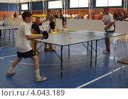 Купить «Соревнования среди школьников по настольному теннису», фото № 4043189, снято 16 июня 2010 г. (c) Наталья Горкина / Фотобанк Лори