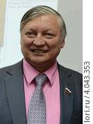 Купить «Анатолий Карпов», эксклюзивное фото № 4043353, снято 4 сентября 2012 г. (c) Free Wind / Фотобанк Лори