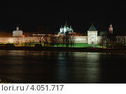Ночной вид на Новгородский Детинец (2011 год). Стоковое фото, фотограф Сергей Бойков / Фотобанк Лори