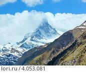 Купить «Пик Маттерхорн, Швейцарские Альпы», фото № 4053081, снято 7 июня 2012 г. (c) Юрий Брыкайло / Фотобанк Лори
