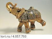 Купить «Фигурка слона», фото № 4057793, снято 27 ноября 2012 г. (c) Алексей Щукин / Фотобанк Лори
