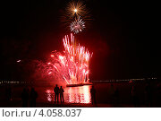 Праздничный салют в Казани (2008 год). Стоковое фото, фотограф Наталья Нестерова / Фотобанк Лори