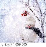 Снеговик. Стоковое фото, фотограф Владимир Сазонов / Фотобанк Лори