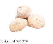 Сладкое печенье, белый фон. Стоковое фото, фотограф Андрей Старостин / Фотобанк Лори