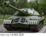 """Танк ИС-3 (""""Иосиф Сталин"""") (2012 год). Редакционное фото, фотограф Виктор Карпов / Фотобанк Лори"""