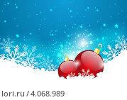 Новогодний сияющий фон. Стоковая иллюстрация, иллюстратор Евгения Малахова / Фотобанк Лори