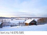 Купить «Сельский пейзаж зимой», фото № 4070585, снято 5 января 2009 г. (c) Охотникова Екатерина *Фототуристы* / Фотобанк Лори
