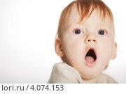 Купить «Маленький ребёнок зевает», фото № 4074153, снято 7 мая 2010 г. (c) Алексей Лосевич / Фотобанк Лори