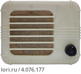 Купить «Громкоговоритель проводного радио 1950-х годов на белом фоне изолировано», фото № 4076177, снято 23 апреля 2019 г. (c) Ельцов Владимир / Фотобанк Лори