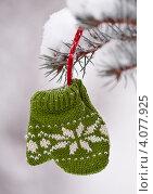 Сувенирная варежка на ёлку. Стоковое фото, фотограф Анастасия Ехлакова / Фотобанк Лори