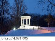 Купить «Ротонда в ночном зимнем парке. Кострома», фото № 4081005, снято 14 марта 2012 г. (c) ElenArt / Фотобанк Лори