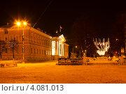 Купить «Зимний ночной пейзаж, Кострома», фото № 4081013, снято 14 марта 2012 г. (c) ElenArt / Фотобанк Лори