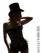 Купить «Силуэт женщины в корсете и шляпе», фото № 4084805, снято 30 сентября 2009 г. (c) Syda Productions / Фотобанк Лори