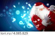 Дед Мороз заглядывает в мешок с подарками. Стоковое фото, фотограф Sergey Nivens / Фотобанк Лори