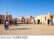 """Декорации к фильму """"Звездные войны"""" Джоржа Лукаса в Matmata, Tunisia (2012 год). Редакционное фото, фотограф Кекяляйнен Андрей / Фотобанк Лори"""