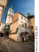 Тихий уютный Львовский дворик (2012 год). Стоковое фото, фотограф Loboda Dmitriy / Фотобанк Лори