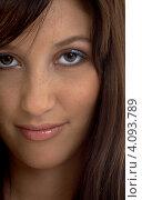 Купить «Портрет очаровательной веселой девушки крупным планом», фото № 4093789, снято 7 января 2007 г. (c) Syda Productions / Фотобанк Лори
