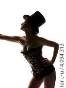 Купить «Силуэт сексуальной женщины в корсете», фото № 4094313, снято 30 сентября 2009 г. (c) Syda Productions / Фотобанк Лори