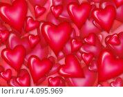 Сердечки. Стоковая иллюстрация, иллюстратор Наталья Хромова / Фотобанк Лори