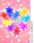 Цветы в форме сердца. Стоковая иллюстрация, иллюстратор Наталья Хромова / Фотобанк Лори